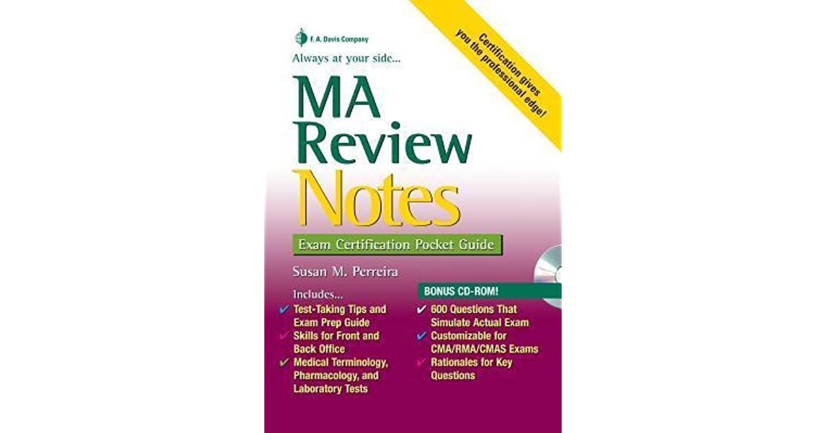 Ma Review Notes Exam Certification Pocket Guide By Susan Perreira