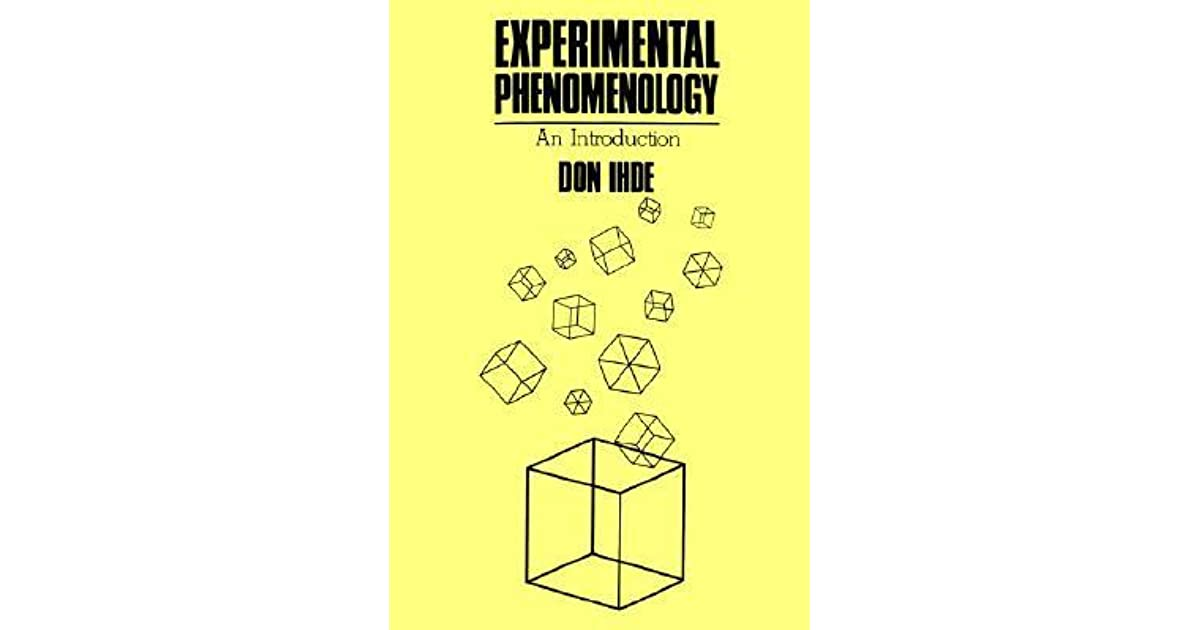 Experimental phenomenology an introduction by don ihde fandeluxe Gallery