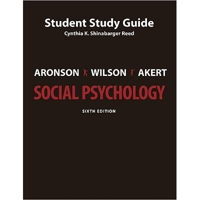 social psychology study guide Study guide: unit xiv – social psychology ap psychology in addition to the information in this study guide, you are also responsible for all of the content in.