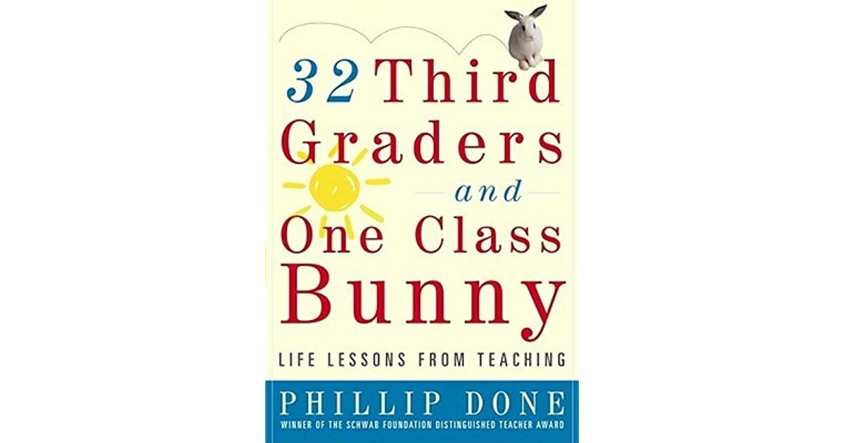 32 third graders and one class bunny done phillip