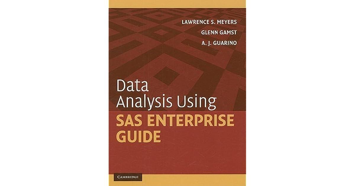 Sas Enterprise Guide Book