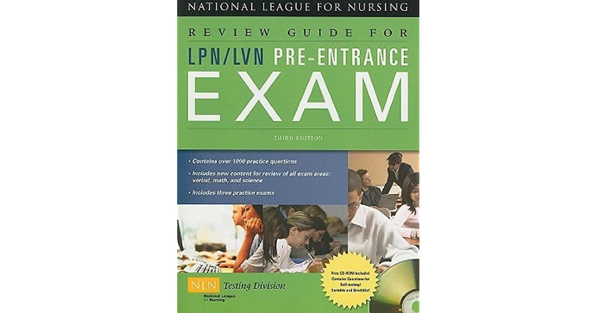 Review Guide For Lpn Lvn Pre Entrance Exam By National