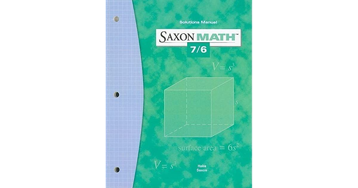 Saxon math 76 solutions manual by stephen hake fandeluxe Image collections