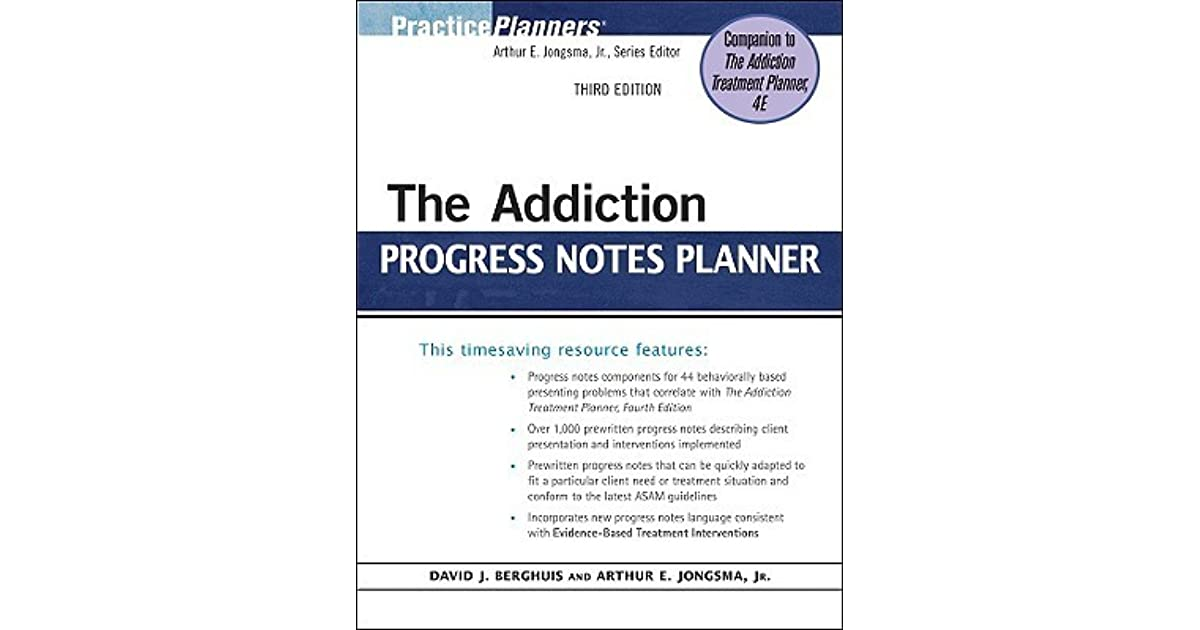 The addiction progress notes planner by david j berghuis fandeluxe Gallery