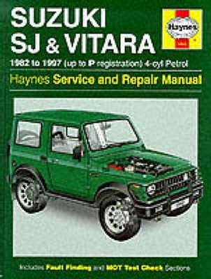 Samurai /& Vitara HAYNES Suzuki SJ Series up to P Reg 82-97 Petrol 4 - cyl