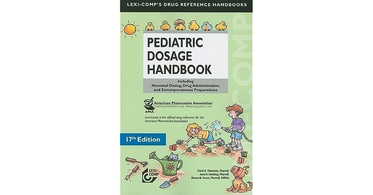 Dosage book drug pediatric
