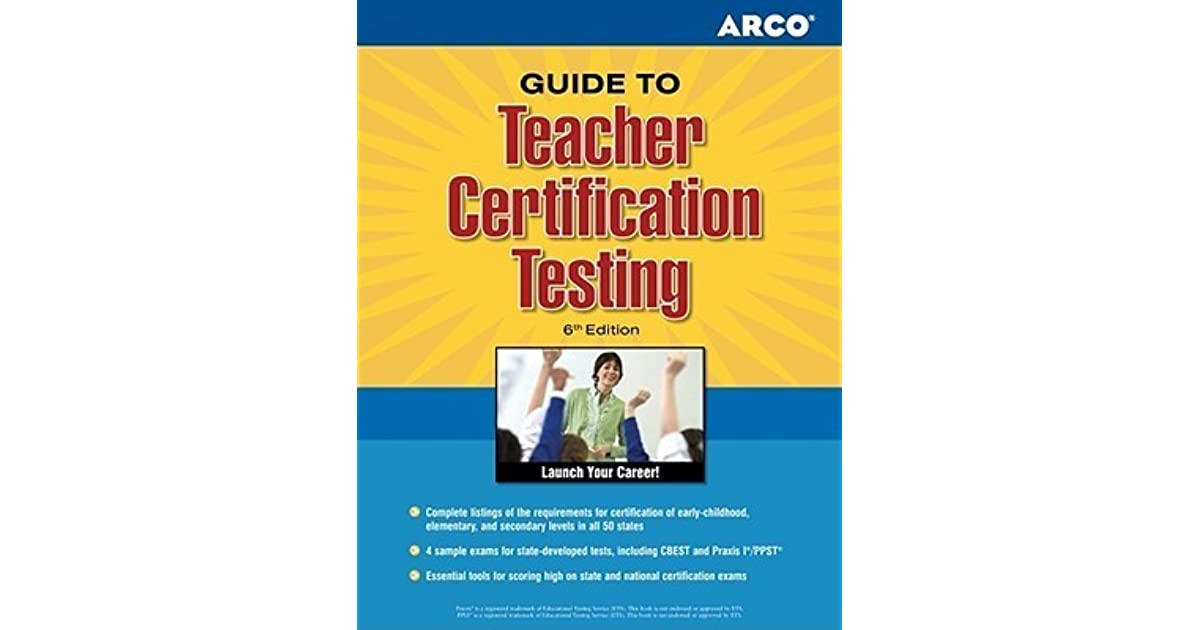 Teacher Certification Tests 6th Edition By Elna Dimock