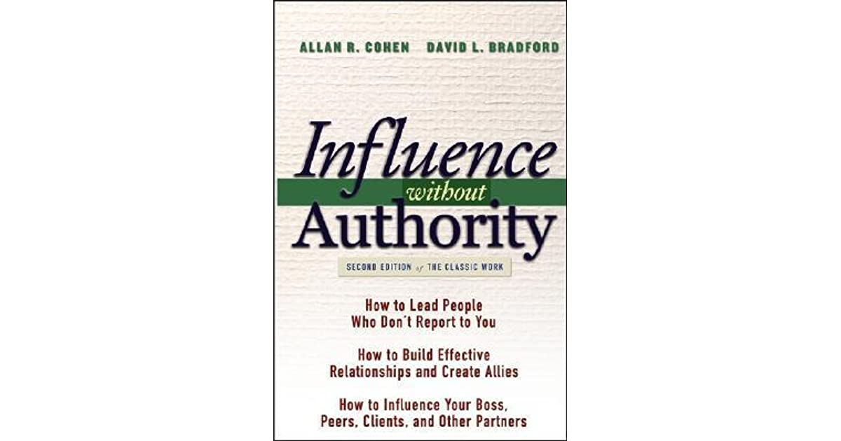 Influence Without Authority By Allan R Cohen