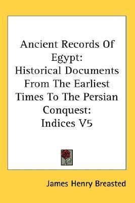Ancient Records Of Egypt - Vol 5