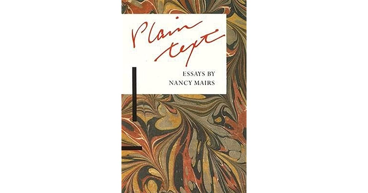 plaintext by nancy mairs
