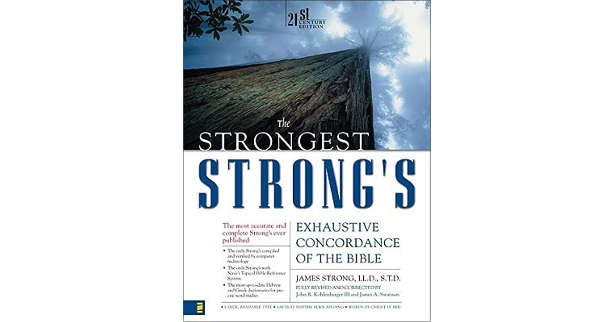 Strongs Exhaustive Concordance Of The Bible Pdf