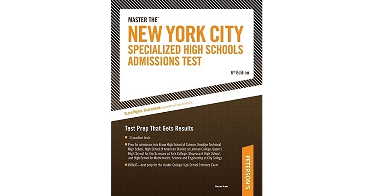 Master The New York City Specialized High Schools Admissions Test