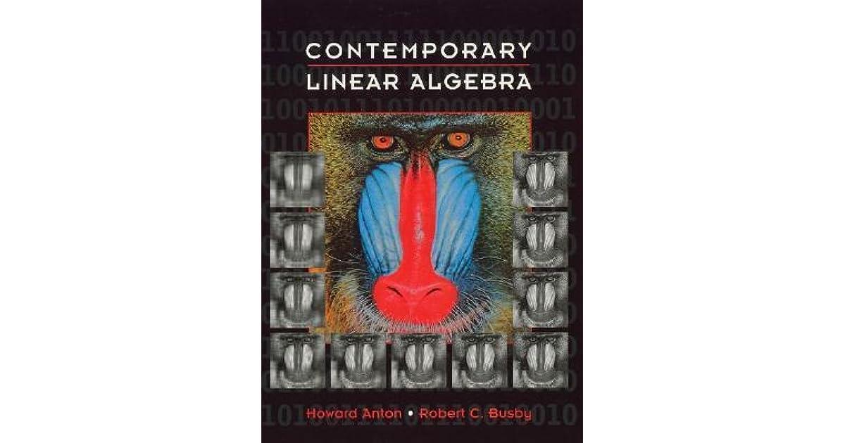 Contemporary Linear Algebra Howard Anton Pdf