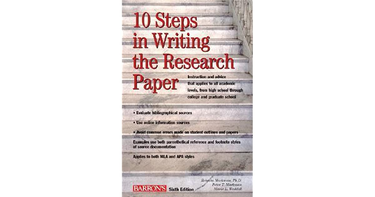 steps in writing an research paper