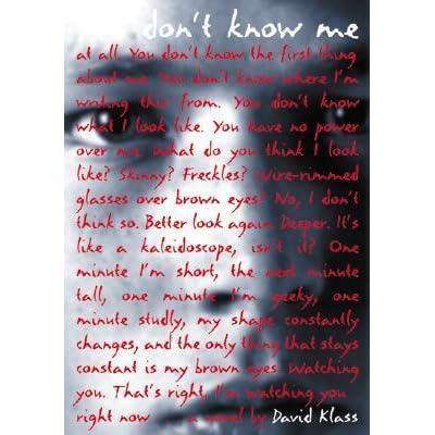 You Don't Know Me by David Klass