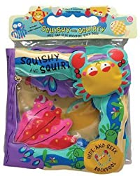 Squishy and Squirty: Hide-And-Seek Ocean Pool Bath Book [With 4 Detachable Bathtime Friends & Water Squirter]