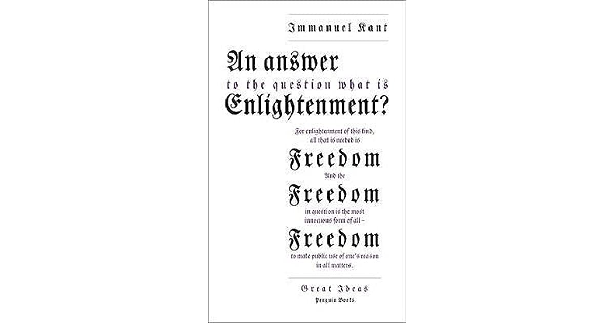 immanuel kant what is enlightenment discussion questions