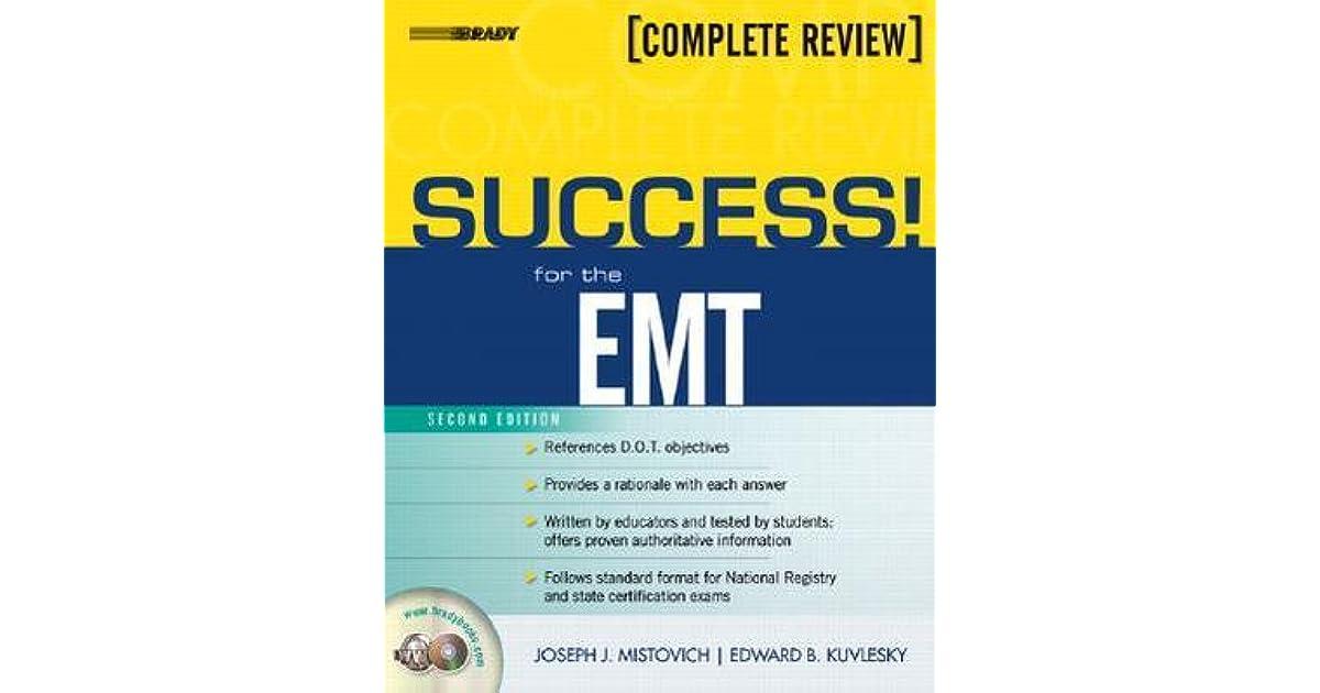 Success! for the EMT by Joseph J  Mistovich
