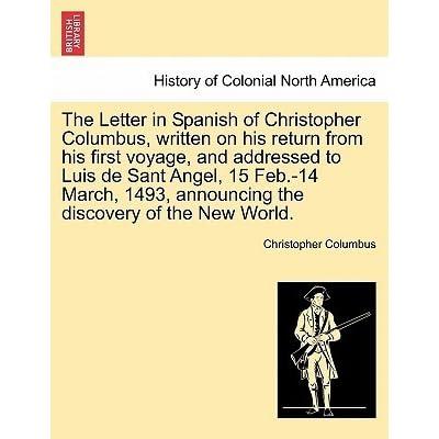 Letter to Luis de Santangel Regarding the First Voyage