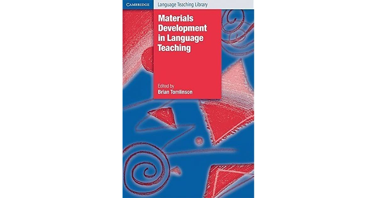Materials Development In Language Teaching By Brian Tomlinson border=