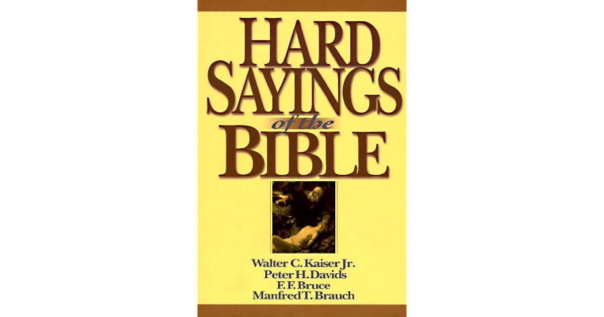 Hard Sayings Of Jesus Ff Bruce Ebook Download