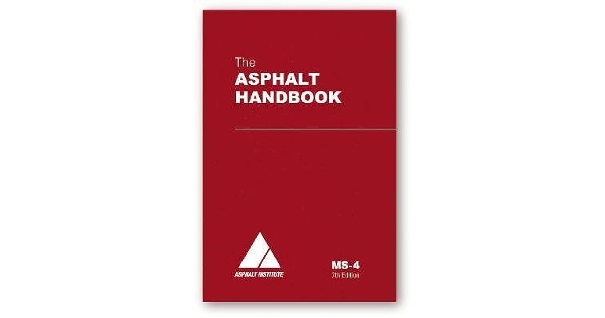 Ms-4 the asphalt handbook 7th edition | rent 9781934154274.