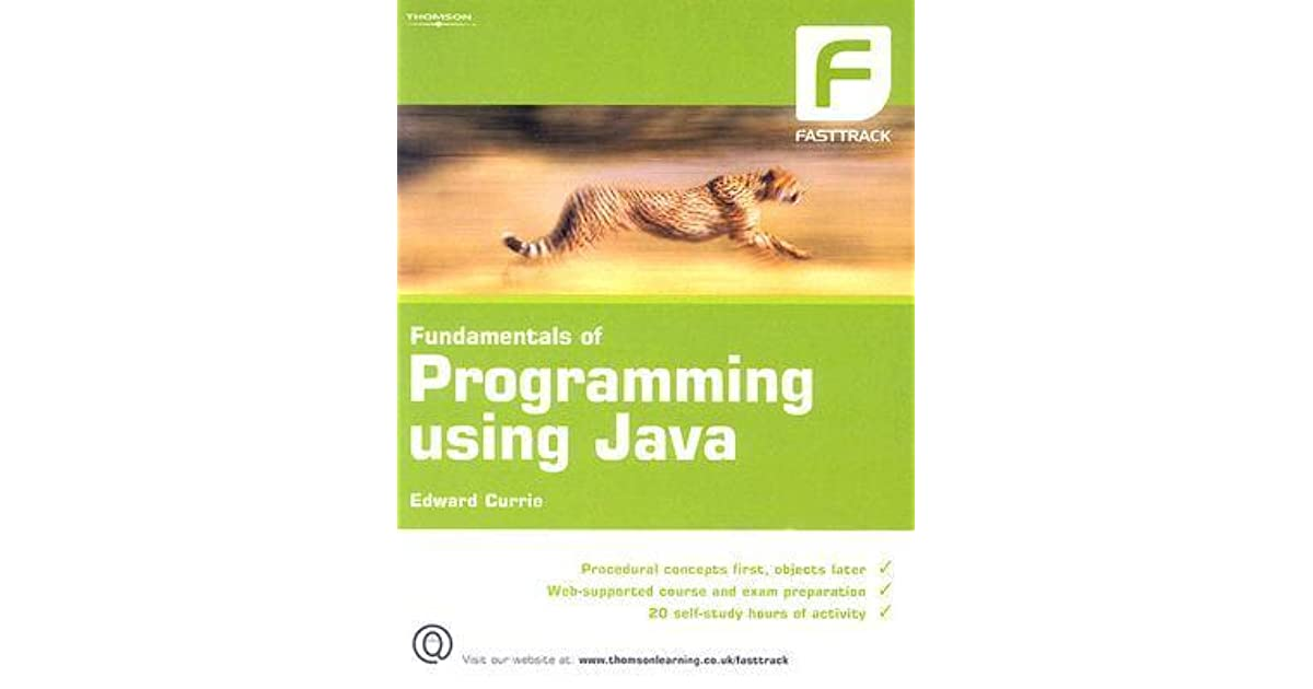 Of java using pdf edward currie programming fundamentals
