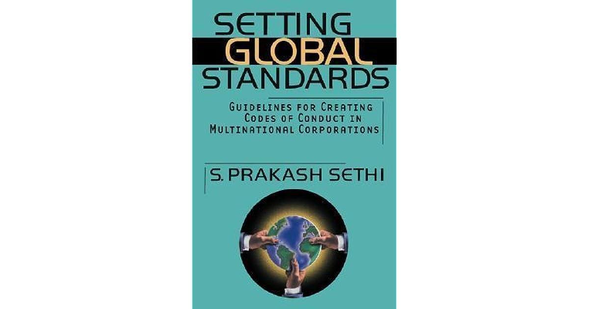 setting global st andards sethi s prakash