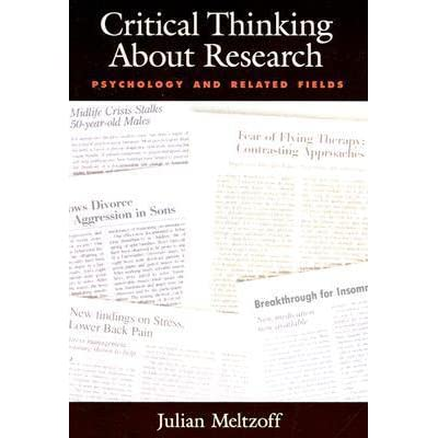 critical thinking about research julian meltzoff