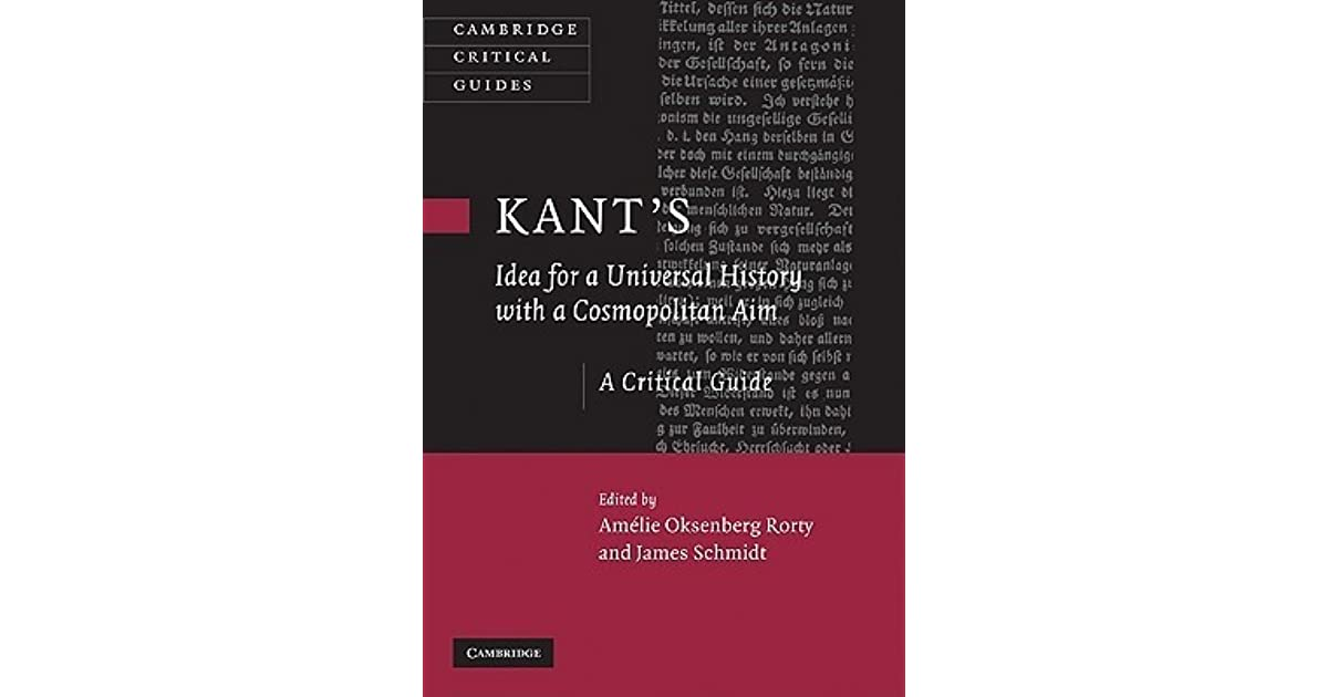 Kants Idea for a Universal History with a Cosmopolitan Aim (Cambridge Critical Guides)