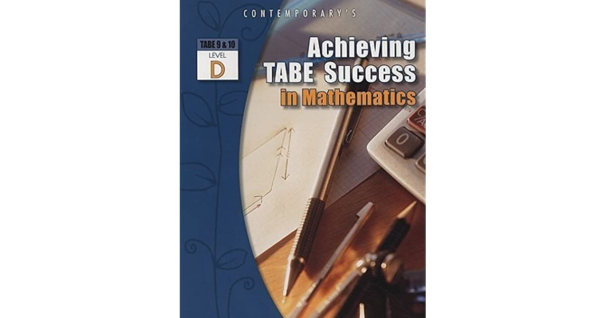 Tabe Test Level D Ebook