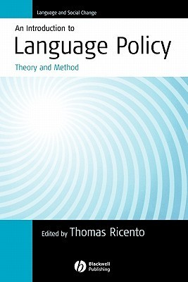 An Introduction to Language Policy  Theory and Method