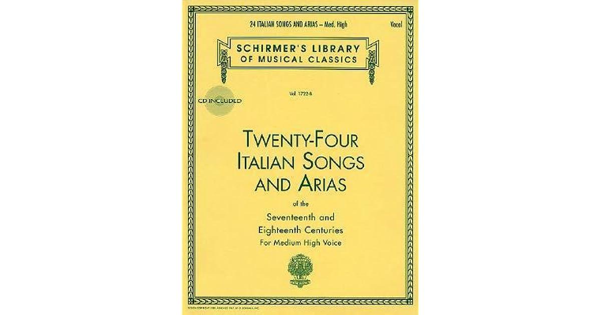 26 Italian Songs and Arias Medium High Voice