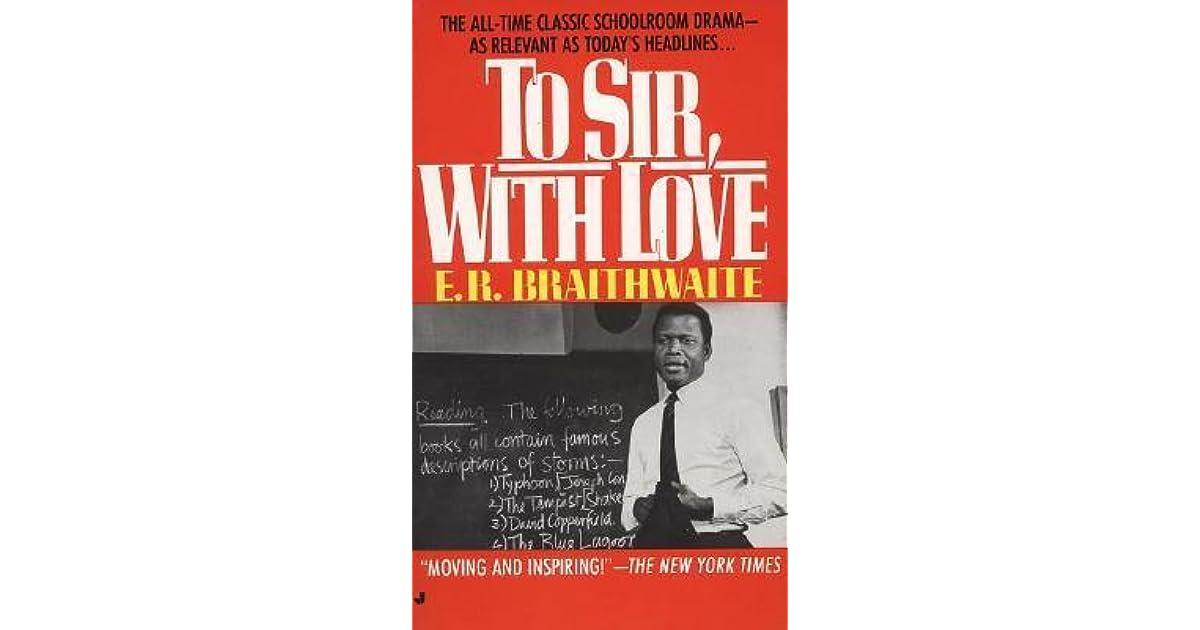 to sir with love er braithwaite summary