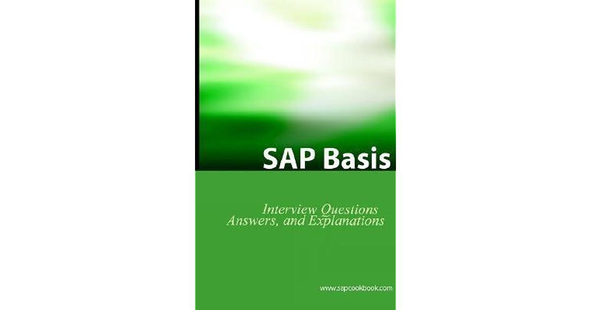 SAP Basis Certification Questions: Basis Interview Questions