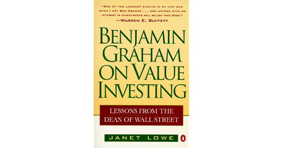 Benjamin graham on value investing lessons from the dean of wall benjamin graham on value investing lessons from the dean of wall street by janet lowe fandeluxe Images