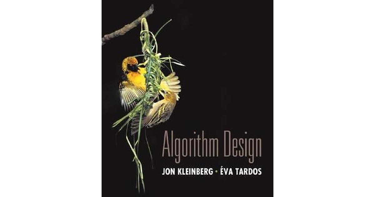 Algorithm Design By Jon Kleinberg Eva Tardos Ebook