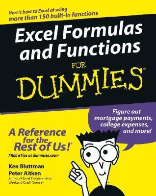 Excel Formulas and Functions for Dummies (ISBN - 0764575562)