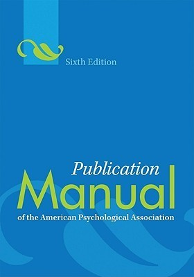 Publication Manual of the American Psychological Association(r)