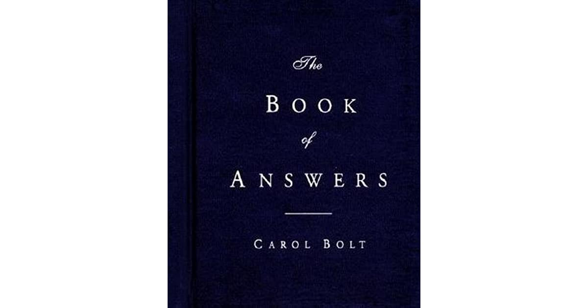 Book of answers by carol bolt fandeluxe Gallery