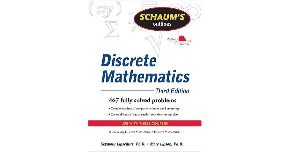 Schaums Outline Of Discrete Mathematics By Seymour Lipschutz