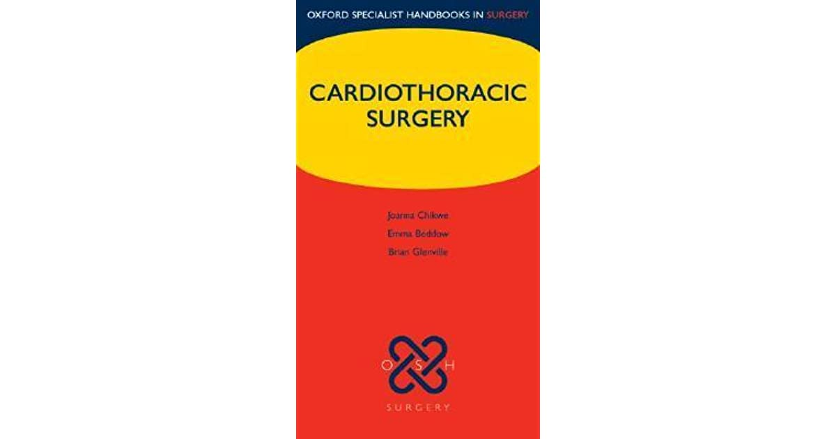 cardiothoracic surgery oxford specialist handbooks in surgery