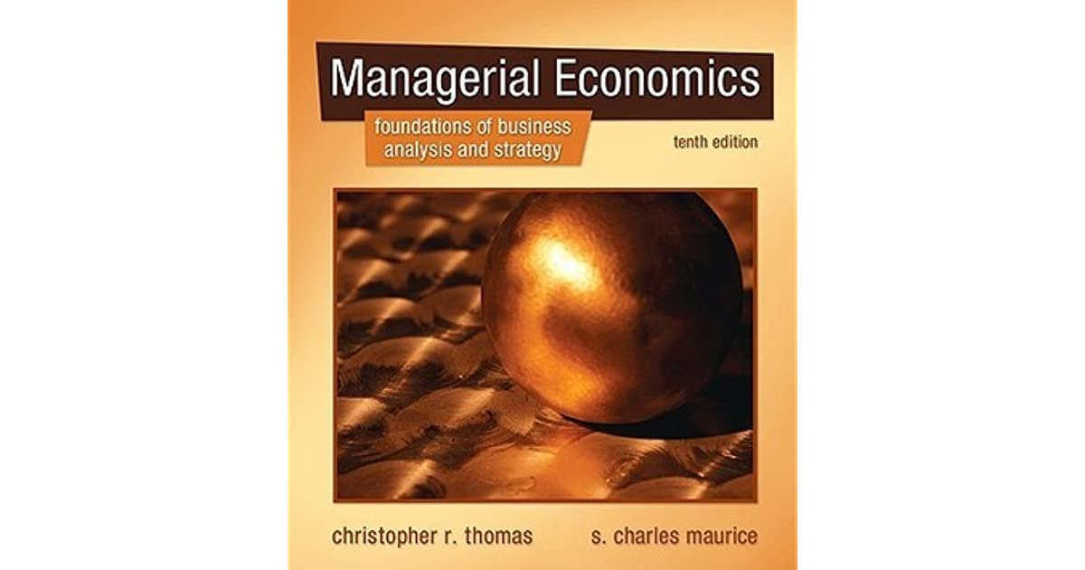 Managerial economics by christopher r thomas fandeluxe Gallery