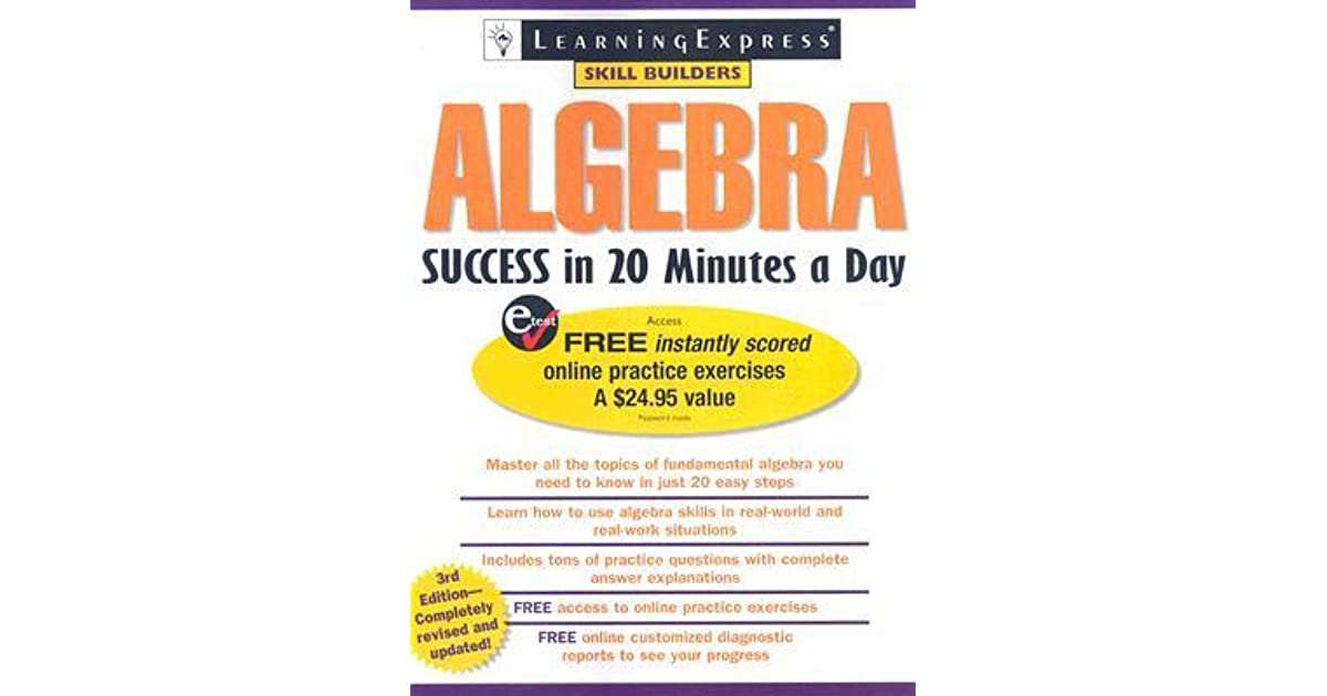 Algebra Success in 20 Minutes a Day by LLC Learning Express