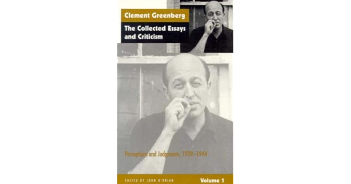 clement greenberg critical essays