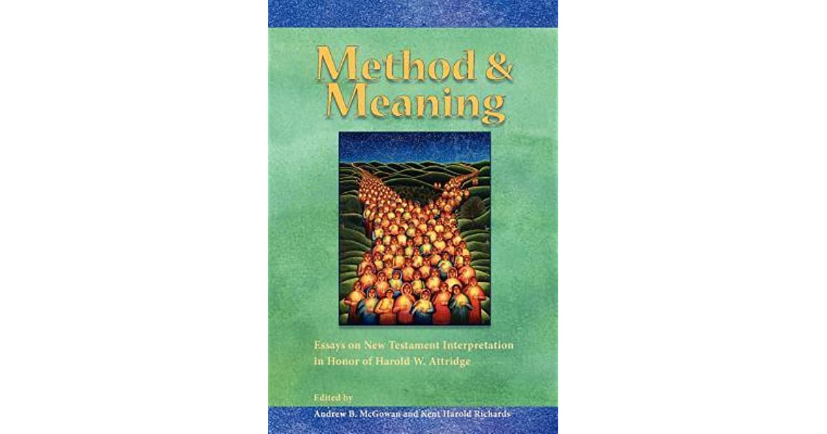 Read Online The New Testament Methods And Meanings Download Free