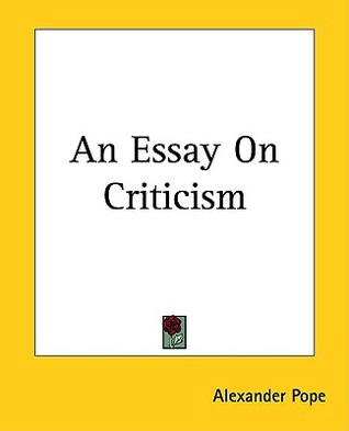 quotes from an essay on criticism by alexander pope
