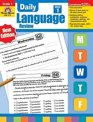 Daily Language Review Grade 1 by Jill Norris