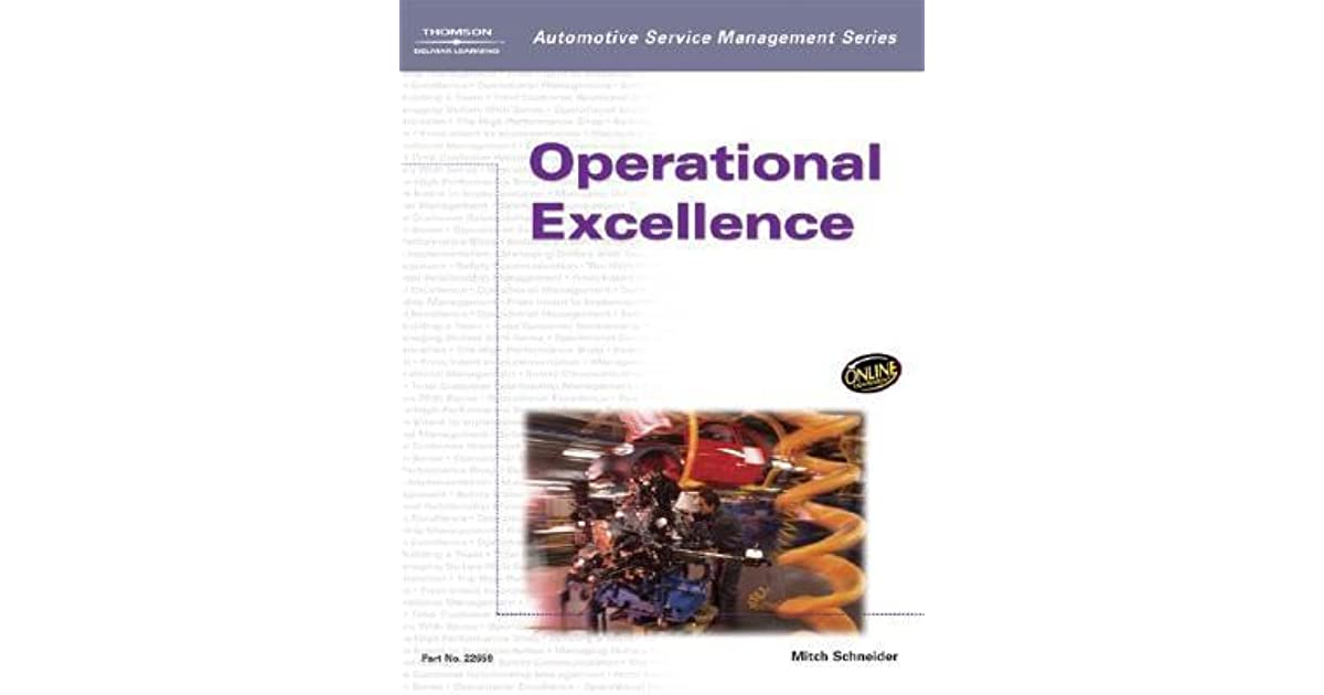 Automotive Service Management: Operational Excellence by