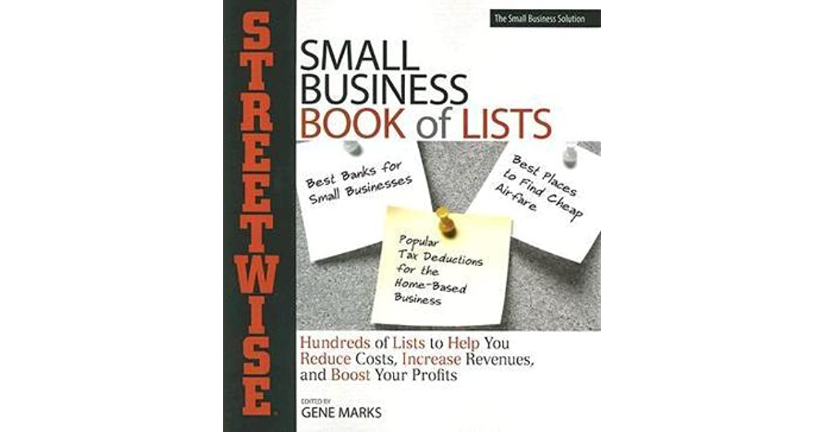 Streetwise Small Business Book Of Lists Hundresds Of Lists To Help